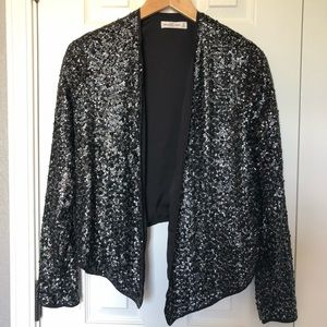 Abercrombie & Fitch Metallic Sequined Cardigan